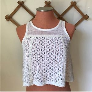 Free People Swingy Lace Crop Top